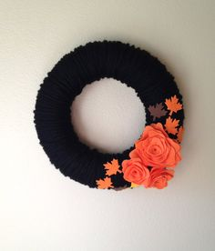 Yarn Wreath Handmade Felt Decoration12 inch by jspooner08 on Etsy, $10.00