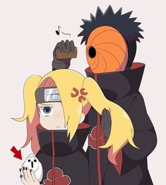 Deidara Akatsuki, Sasunaru, Naruto Shippudden, Naruto Shippuden Anime, Tobi Obito, Animes Wallpapers, Aesthetic Anime, Kawaii Anime, Chibi