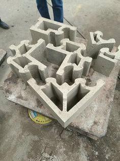 Interlocking Concrete Blocks, Insulated Concrete Forms, Diy Cnc, Precast Concrete, Outdoor Tiles, Lego Brick, Restaurant Design, Legos, Architecture Design