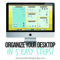 OMG!!!!   Where has this been all my blogging life?  If your comouter desktop is a mess you are going to love thiese Desktop Organization Backgrounds