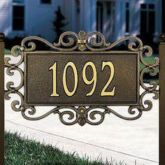 Mears Fretwork Address Plaque - B
