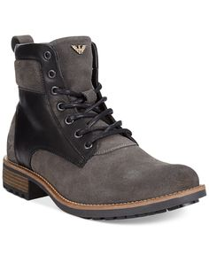 Armani Jeans Lace-Up Boots - Boots - Men - Macy's