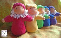 Polar Bear Creations Dolls <3 Rainbow gnomies in a row
