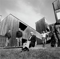 Charles W. Moore, Joseph Esherick, William Turnbull, Donlyn Lyndon, and Richard Whitaker and the landscape architect Lawrence Halprin at Sea Ranch