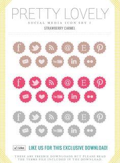 free social media icons (the grey ones -fuchsiadarling) Web Banner Design, Blog Design, Web Design Inspiration, Design Design, Design Ideas, Graphic Design, Social Media Buttons, Chiffon, Blog Love