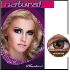 Lentilles de contact couleur mode PHANTASEE Modèle NATURAL Brown 100 % naturel