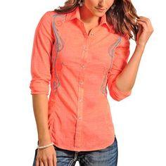 Rock & Roll Cowgirl Women's Filigree Long Sleeve Shirt