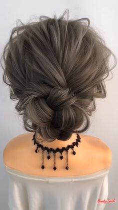 Short Hair Updo, Easy Hairstyles For Long Hair, Bun Hairstyles, Medium Hair Styles, Curly Hair Styles, Hair Bun Maker, Hair Upstyles, Hair Videos, Hair Hacks
