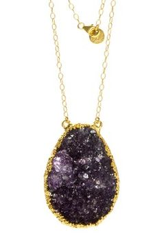 Wyatt Druzy Stone Pendant Necklace