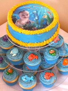 Southern Blue Feste Unter Dem Meer  Findet Nemo Kuchen Ideen - Finding nemo birthday cake