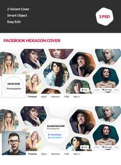Hexagon Facebook Cover @creativework247