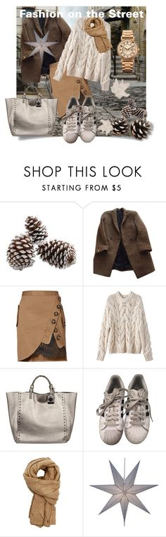 """""""Fashion on the Street"""" by drahuschka ❤ liked on Polyvore featuring The Kooples, self-portrait, Rafe, adidas, Polo Ralph Lauren and ELLE Time & Jewelry"""