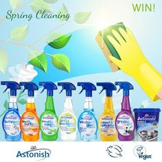 Enter this competition with DB Reviews to win a bundle of Astonish cleaning products