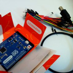 Check out the new ultra-slim & sexy @arduino #leonardo kit I got as a gift from electrolabo.com