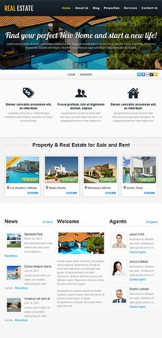 Template 44205 Template Site, Templates, Property Real Estate, Estate Homes, New Homes, Life, Stencils, Vorlage, Models
