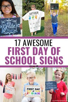 17 Awesome First Day Of School Signs First Day School Sign, School Signs, 100 Days Of School, Diy Vinyl Projects, Craft Projects, Back To School Shopping, School Pictures, One Day, School Projects