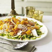 Roasting brings out the natural sweetness of the squash and shallots in this festive side dish.