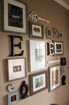 gallery monogram wall