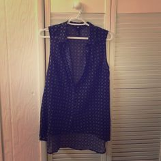 H&M black sleeveless blouse H&M black and white sleeveless button down blouse H&M Tops Blouses