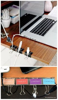 20 Awesome DIY Office Organization Ideas That Boost Efficiency Kabelhalter Related posts: Legende 45 Awesome Home Office Organization Ideas And DIY Office Storage 8 Home Office Desk Organization Ideas You Can DIY Dorm Hacks, College Hacks, College Dorm Rooms, Apartment Hacks, Apartment Therapy, Diy Room Decor For College, Diy Dorm Room, Dorm Room Desk, Office Hacks