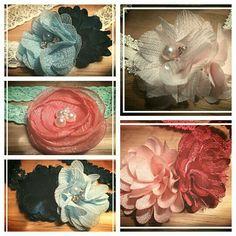 Verschillende elastische haarbanden voor 5,- te bestellen via suzancreatief@hotmail.nl
