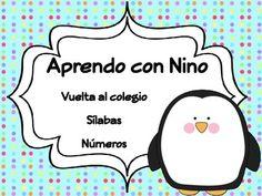 Aprendo con Nino- Vuelta al colegio,sílabas números