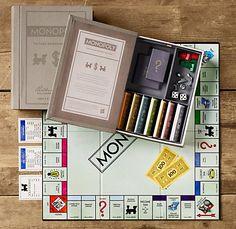Restoration Hardware Vintage Bookshelf Monopoly 69 Library Games Old Board