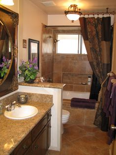 Tuscan Bathroom  | Glam-Take me away, We love our new bathroom,old world tuscan tile ...