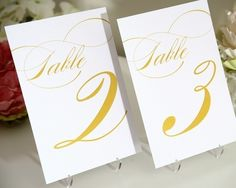 Table Numbers - Set of 20, Any Color - For Your Wedding or Party