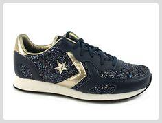 Converse  Auckland Racer Ox Glitter, Damen Sneaker Schwarz schwarz 36, Blau - blau - Größe: 37 - Sneakers für frauen (*Partner-Link)