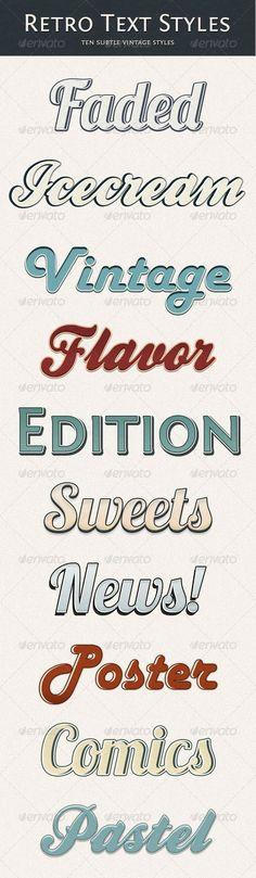 Retro Text Style - Subtle Vintage - GraphicRiver Item for Sale