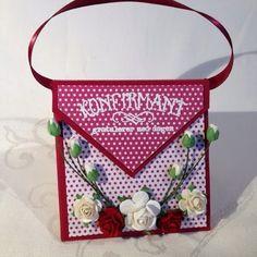 "Kristinas kortblogg: Veskekort / purse card9""x9"""
