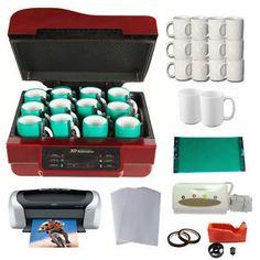 New-3D-Sublimation-Machine-Epson-Printer-Cartridges-Sublimation-Paper-Kit