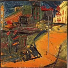 By layering up thick paint, several times, Auerbach's images show a history and connection to the subject. Frank Auerbach, Bad Painting, Abstract Landscape, Landscape Paintings, Artwork Images, Contemporary Paintings, Sculpture, Les Oeuvres, Opera