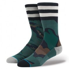 Stance's Roach is rooted in the classics, yet it's not afraid to abandon them. Adorned with camouflage and a few simple stripes, the Roach offers an especially fresh design. The sock's premium combed cotton—combined with the tighter stitching of its 200 needle count—offers the perfect blend of comfort and durability. A deep heel pocket and an elastic arch snuggly hug the contours of your feet $14