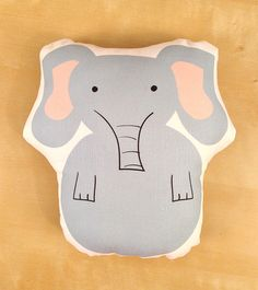 Eloise Elephant stuffed animal softie eco friendly by feb10design, $22.00