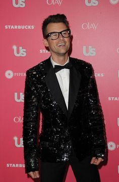 I would shamefully consider wearing a sequined tuxedo jacket for my wedding. I want to sparkle. Brad is my inspiration.