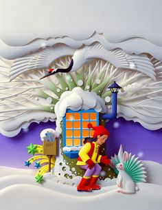 Бумажные работы Хидхару Найто с сайта Бумажная Луна. Cardboard Sculpture, Book Sculpture, Paper Sculptures, 3d Paper, Paper Quilling, Paper Crafts, Folded Book Art, Book Folding, Kirigami