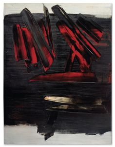 Peinture 186 x 143 Cm, 23 Décembre 1959 by Pierre Soulages in Post-War & Contemporary Art Evening Sale on November 2018 at the null null sale lot Tachisme, Action Painting, Abstract Expressionism, Abstract Art, Illustration Photo, Art Ancien, Victor Vasarely, Foto Art, Norman Rockwell