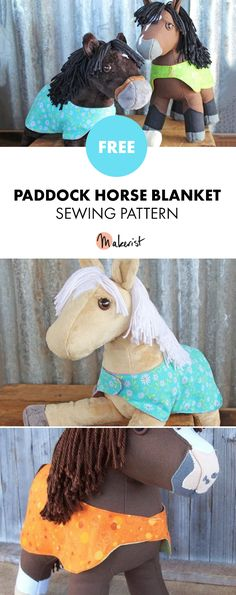 Paddock Blanket For Plush Horses - Free Sewing Patterns via Makerist.com