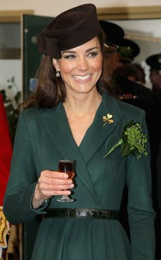 Kate Middleton spread a little joy—and luck—to dozens of Irish Guards Saturday as she passed out shamrocks to members of the 1st Battalion in honor of St. Patrick's Day