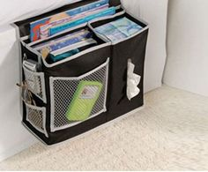 Bedside Caddy | Click Pic for 12 Clever Space Saving Ideas for Small Bedrooms | DIY Storage Ideas for Small Bedrooms