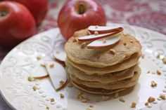 What to have for breakfast? The answer is always pancakes, especially if it's Apple-Almond Butter Pancakes!