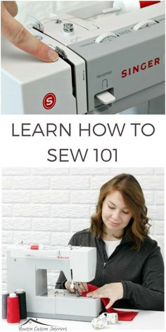 Learn how to sew with these detailed sewing videos. You'll learn everything from how to thread your sewing machine to how to make a buttonhole! #sewingtutorial #sewing #sewingmachine