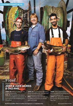 Jake Harris, Captain Phil Harris, and Josh Harris