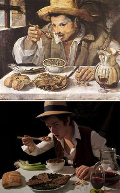"""""""The Beaneater"""", Annibale Carracci - remake by Mark Bass"""