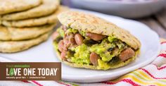 A gordita is a tortilla stuffed with anything you like. Developed by Registered Dietitian Malena Perdomo of this gluten free, vegetarian, fresh avocado gordita has chia seeds and ground flaxseed for added crunch. Avocado Recipes, Veggie Recipes, Vegan Vegetarian, Vegetarian Recipes, Coleslaw, American Diabetes Association, Fresh Avocado, Registered Dietitian, Chia Seeds