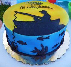 Fishing Cake. David would love this!