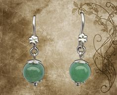 Earring * Model: Green Eyes * Material: 950 Silver law, natural semiprecious stones N ° 08 Aventurine. * Stock: 01 pair - Shop Now S15.00