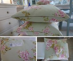 If you need a cushion to hide behind, make it a pretty one! #Cushion #Floral #Chintz #Pretty